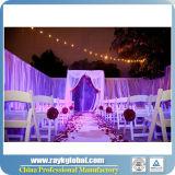 휴대용 무역 박람회 전람 부스 결혼식 관은 백색 휘장을%s 가진 장비를 주름잡아 드리운다