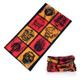 印刷される100%年のポリエステルは涼しい乾燥する適当な通気性の多機能のカスタムバンダナを遊ばす