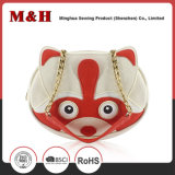 Cartoon Shape Metal Chain Bolsas de couro Lady Handbag
