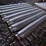 Manguera de acero inoxidable industrial con extremos de brida