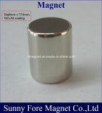 Nickelplattierung-Zylinder-Magnet Dia6 10mm
