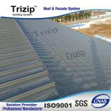屋根ふきのための屋根のパネルの地位の継ぎ目シート