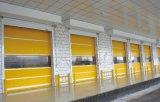 Завальцовка рентабельной ткани PVC высокоскоростная вверх по двери