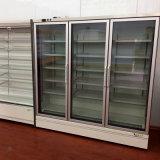 Fernkompressor-Nacjbarschaftsladen-ausgezeichneter Entwurfs-vertikale Glastür-Kühlvorrichtung