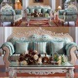 Деревянная софа ткани/живя софа комнаты/домашняя софа (D929W)