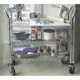 Chariot à chariot de portion de restaurant de fil d'acier inoxydable de NSF