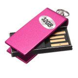 로고를 위한 금속 회전대 USB 섬광 드라이브