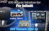 Interfaccia della macchina fotografica della parte posteriore della macchina fotografica della parte anteriore della macchina fotografica di panorama 360 per Infiniti 2015-2016 Q50/Q50L/Q60 con la guida di parcheggio