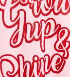 T-shirt du sport de la fille faite sur commande avec des mots estampés