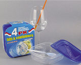 Sqaure 플라스틱은 Microwavable 음식 콘테이너 25oz를 나른다