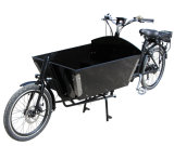 정면 상자를 가진 2개의 바퀴 주기 자전거