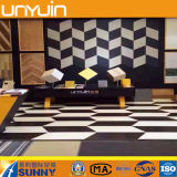 China Factory Glossy Black and White Vinyl Floor Tile