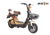 48V12ah 전기 발동기 달린 자전거 스쿠터 450W 작은 백레스트 정면 쇼핑 바구니 스쿠터 LCD Speedmeter