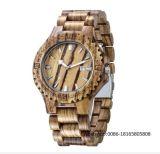 나무로 되는 기술 남자 손목 시계 유럽 동향 시계 석영 시계 크리스마스 선물