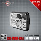 Hauptlicht des 7 Zoll-Vierecks-LED mit PUNKT Bescheinigung