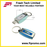 로고 (D307)를 가진 금속 열쇠 고리 USB 섬광 드라이브