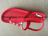Santals occasionnels de femmes de couleur rouge de PVC, poussoirs de mode de dames de Softable