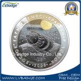 Pièce de monnaie d'enjeu plaquée par argent en métal d'or de qualité
