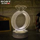 3D視覚クリスマスの照明白いLEDのサイドテーブルランプ
