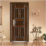 Diseño barato de la puerta del acero inoxidable de la casa moderna, puerta de acero de la seguridad