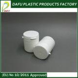 frasco plástico de rasgo do comprimido da farmácia pequena branca do tampão 70ml