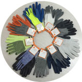 Ddsafety 2017 13G schwarzes weißes Hppe und Spandex strickte Arbeits-Handschuhe