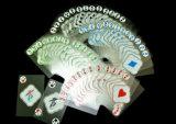 Cartões de jogo do jogo de cartão do PVC de Transparant