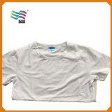 Maglietta dello spazio in bianco del cotone pettinata usura di sport con il formato di Exlarge