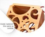 민감한 여가 Retro 작풍에 의하여 건류되는 대나무 포도주 선물 전시 상자