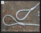 brides lumineuses de câble métallique de 6X25 Iwrc - oeil et oeil