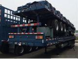 40FT de lage Semi Aanhangwagen van de Container van het Bed/vlak de Semi Aanhangwagen van het Bed voor Verkoop aan Afrika