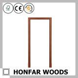 Воспламененный строительным материалом деревянный Jamb двери дверной рамы