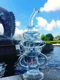 A SOLHA de vidro de fumo da pilha do Sundae do Hitman da tubulação de água equipa das tubulações de vidro altas do vidro do cinzeiro do ofício da bacia da cor do tabaco do reciclador da alta qualidade o bebedoiro automático arrebatado Handcra da taça