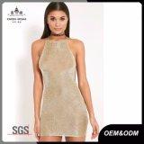 Платье металлического Knit Backless сексуальное