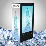 Réfrigérateur transparent de bonne qualité d'affichage à cristaux liquides pour la nourriture et la boisson