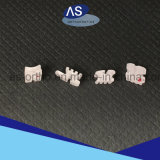 Parentesi di ceramica ortodontiche basse delle scanalature