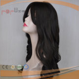 Parrucca lunga dei capelli di cena riccia nera di colore