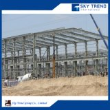 Gruppo di lavoro industriale prefabbricato della struttura d'acciaio/liberato di/capannone