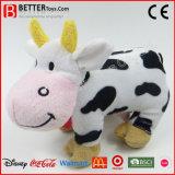 Brinquedo enchido bonito do luxuoso da vaca do animal de exploração agrícola