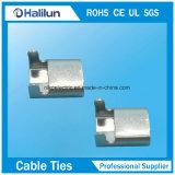 Clip de las bandas de Lx del acero inoxidable con la correa revestida del PVC de los Ss