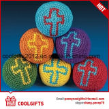 بالجملة قطن خيط سنّ اللولب يحبك رفس كرة عادة [فووتبغ] [هكي] كيس مع علامة تجاريّة طباعة