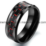 Houten Ring van het Inlegsel van de Ring van de Kleur van het Carbide van het wolfram de Natuurlijke