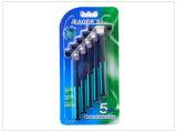 Doppelschaufel-Rasiermesser-halbes Schaufel-Rasiermesser-Sicherheits-Rasiermesser und Pinsel-Standplatz