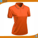 T-shirts faits sur commande de plaine d'extension de coton de chemises de polo de dames