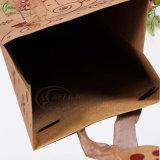 Sacchi di carta pieganti del Kraft del sacchetto di Prefessional per il fornitore impaccante del regalo (KG-PB084)