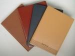 Macio Notebook Couro cobertura de papel PU para Dairy, Escola