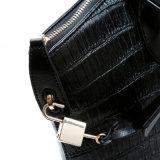 Bolso de totalizador de las mujeres del bolso de la maneta de la tapa de la manera del bolso del cuero del cocodrilo del diseñador
