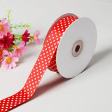 "Pink 7/8 ""Printed Party Polka DOT Grosgrain Ribbon"