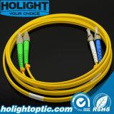 Patchcord di fibra ottica Fca a colore giallo monomodale duplex della st 3.0mm
