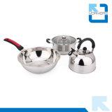 3 parti del Cookware dell'acciaio inossidabile della minestra del POT del cuoco con la caldaia